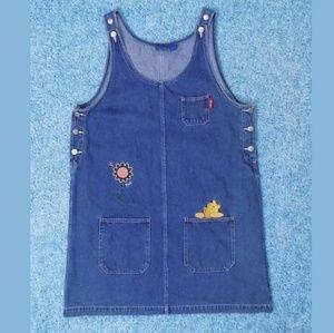 Dresses & Skirts - Winnie the Poo Jean Dress Sz Large